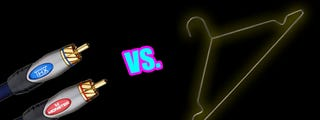 Illustration for article titled Audiophile Deathmatch: Monster Cables vs. a Coat Hanger