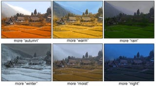 Illustration for article titled This Algorithm Can Change the Season and Weather In Your Photos