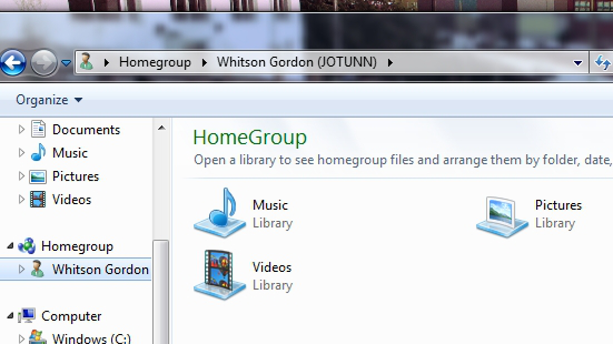 how to reset homegroup settings