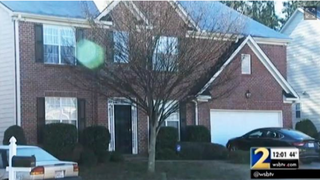 Fulton County, Ga., police were called to this home shown police say a 13-year-old accidentally shot his mother while playing with a gun he'd found in his neighborhood.WSB-TV screenshot