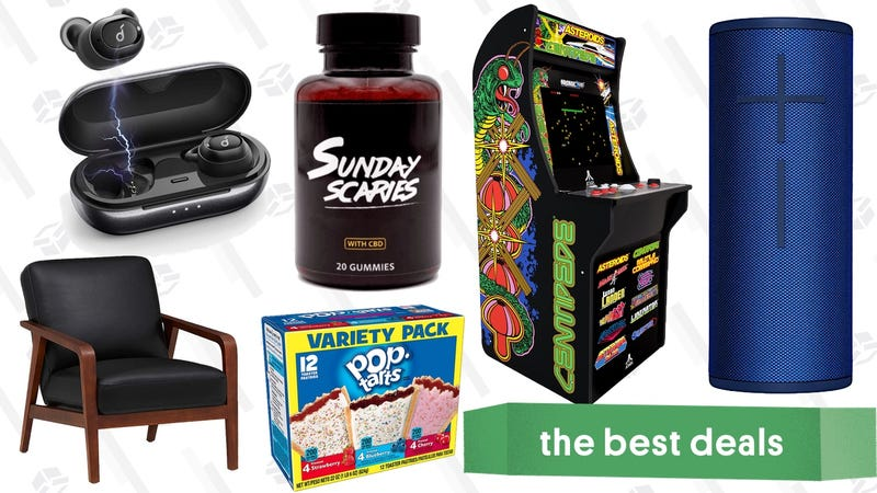 Afbeelding voor artikel getiteld Saturday's Best Deals: Sunday Scaries, Arcade Cabinet, Trendy Furniture, Prime Pantry en More