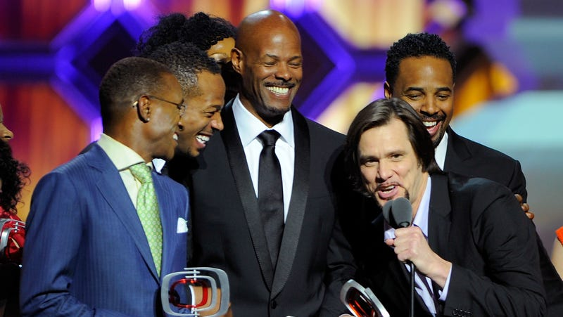 Tommy Davidson, Marlon Wayans, Keenen Ivory Wayans, Jim Carrey and Shawn Wayans of 'In Living Color' speak onstage at the 10th Annual TV Land Awards on April 14, 2012 in New York City.