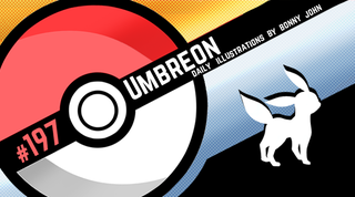 Illustration for article titled Umbreon! Pokemon One a Day, Series 2!
