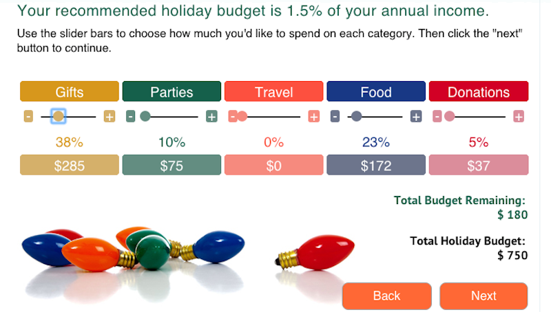 create a holiday budget with this interactive planner