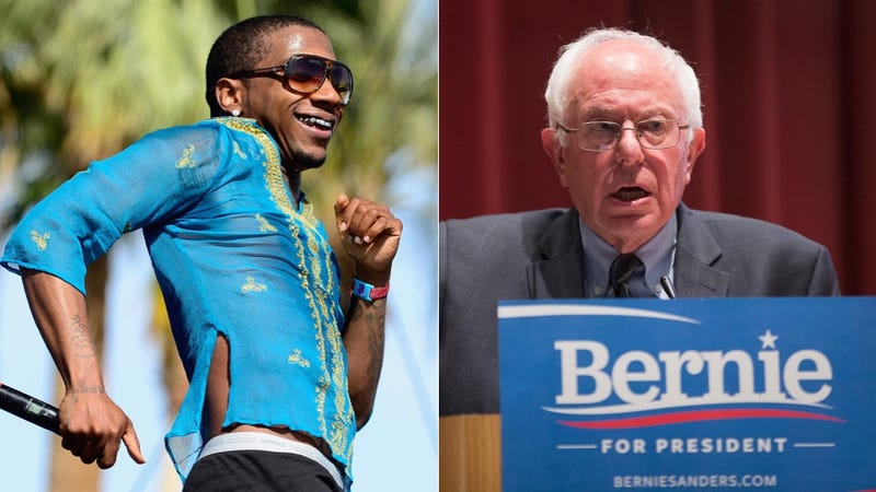 Illustration for article titled Bernie Sanders Follows Lil B on Twitter, As One Does