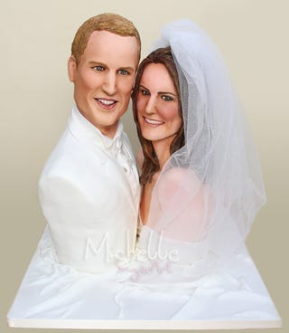 Illustration for article titled Will Royal Wedding Include Life-Size Kate & William Cake Sculpture?