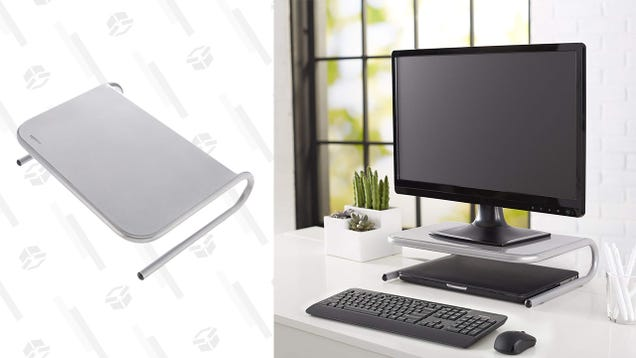 This Monitor Riser Is Hideous, But Also Functional and Inexpensive