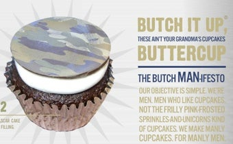 """Illustration for article titled The Butch Bakery: """"Manly Cupcakes For Manly Men"""""""