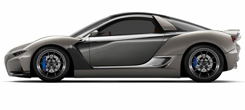 Illustration for article titled Yamaha Sports Ride Concept: A Baby Supercar With Tech From The Man Behind The McLaren F1