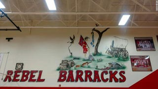 Illustration for article titled After Months of Complaints, Tennessee Elementary School Removes Confederate Flag Mural From Gymnasium Wall