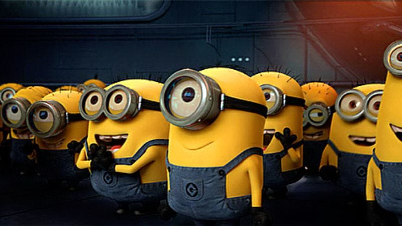 Illustration for article titled The little minion guys from Despicable Me are getting their own movie