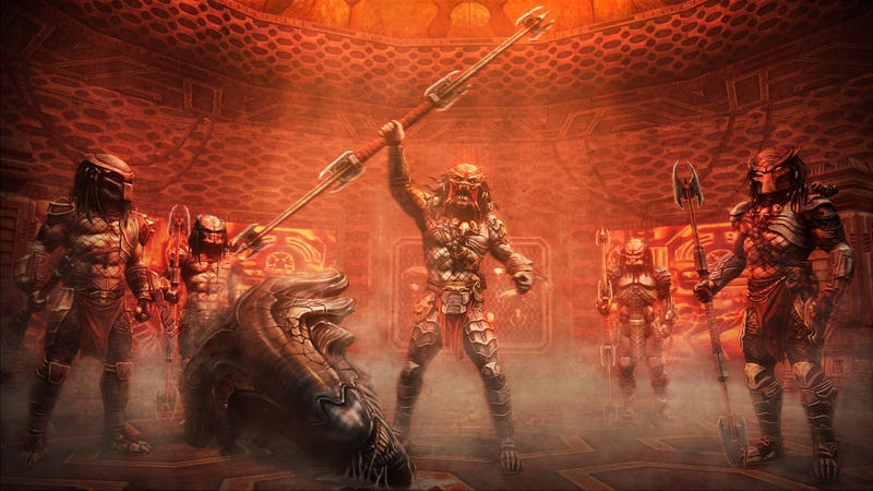 Illustration for article titled Exclusive Alien vs. Predator concept art shows what a Predator victory party looks like