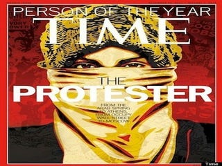 Illustration for article titled Time Names the Protester Its 2011 Person of the Year