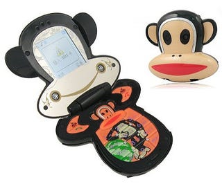 Illustration for article titled Paul Frank Counterfeit Cellphone is Magnificently Gaudy and Monkey Shaped