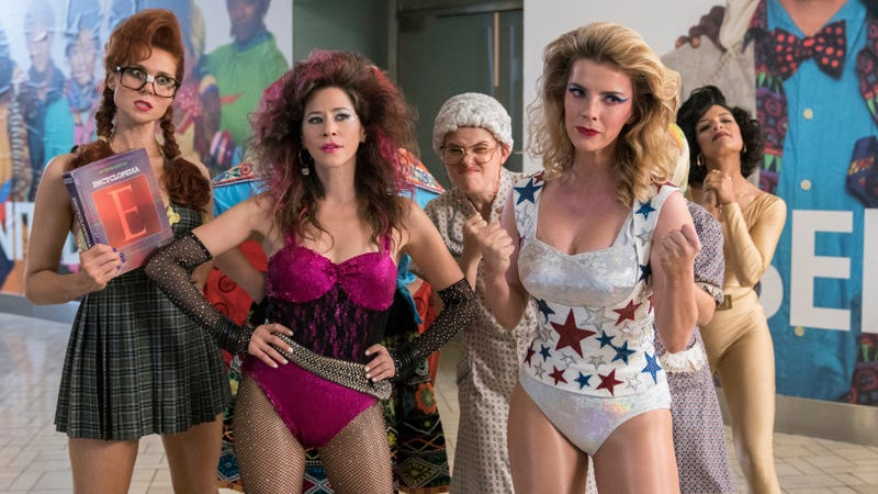 Kate Nash, Jackie Tohn, Kimmy Gatewood, Betty Gilpin, and Shakira Barrera star in GLOW
