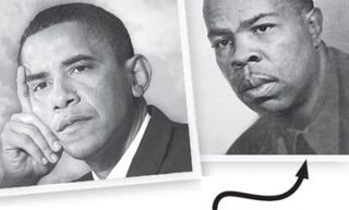 Images of President Obama and Frank Marshall Lewis (Dreams From My Real Father)