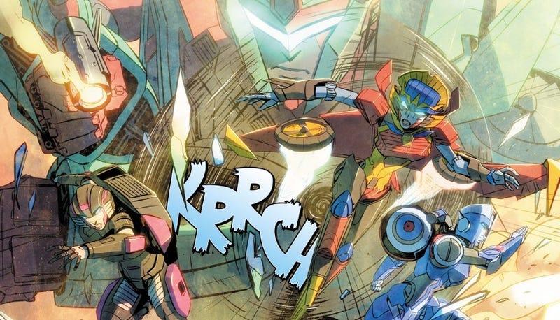 Illustration for article titled Transformerstambién tiene un equipo femenino al estilo de los Avengers