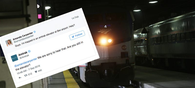 Amtrak Customer Service Is Asking If You're Still Stuck In An Elevator Eight Months Later
