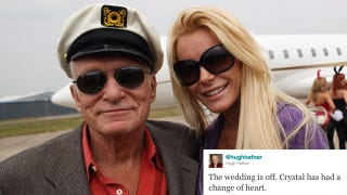 Illustration for article titled Why Did Crystal Harris Call Off Her Wedding To Hugh Hefner?