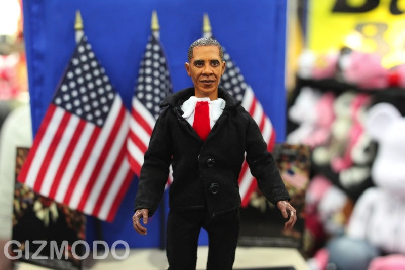 Illustration for article titled This Is The Worst Obama Action Figure You Will Ever See