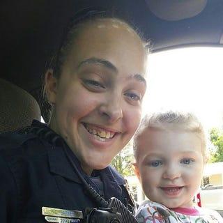Long Beach, Miss., Police Officer Cassie Barker with her daughter CheyennFacebook