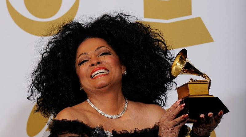 Singer Diana Ross, recipient of the GRAMMY Lifetime Achievement Award, poses in the press room at the 54th Annual GRAMMY Awards on February 12, 2012 in Los Angeles, California.