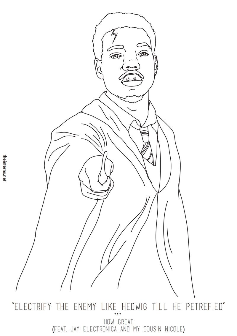 chance the rapper u0027s coloring book now has an actual coloring book