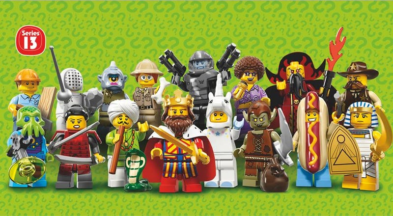 Illustration for article titled Official images of Lego series 13 minifigures