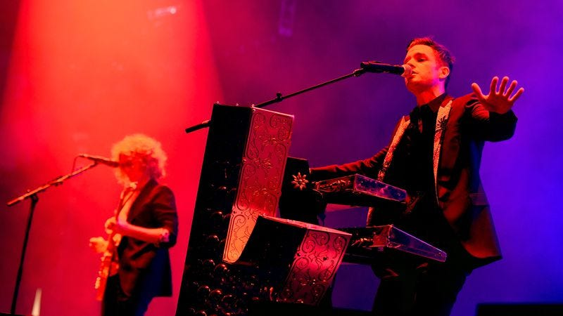 The Killers perform in Las Vegas on April 6. (Photo: Getty Images)