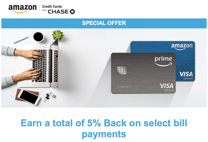 5% Back On Select Bill Payments | Amazon Visa Rewards Cards