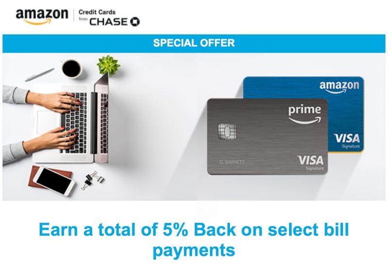 5% Back On Select Bill Payments | Amazon Visa Rewards Cards