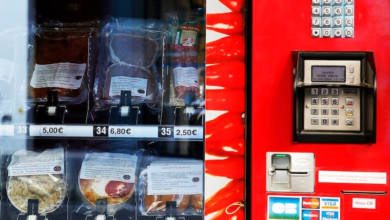 Illustration for article titled This Meat Vending Machine Is Very Good