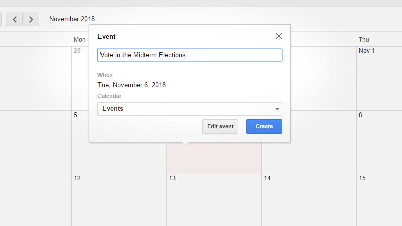 Illustration for article titled Add the Midterm Elections to Your 2018 Calendar Now While You Still Remember