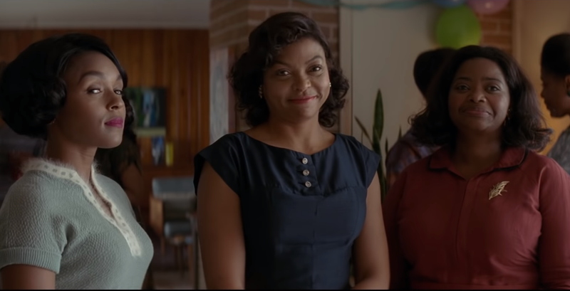 Janelle Monáe, left, Taraji P. Henson and Octavia Spencer in 'Hidden Figures.'