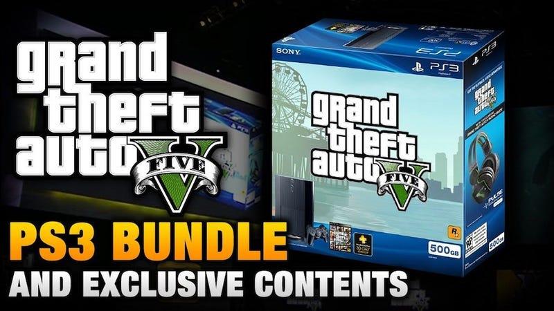 Illustration for article titled Moneysaver One-Shot: Grand Theft Auto V Playstation 3 Bundle
