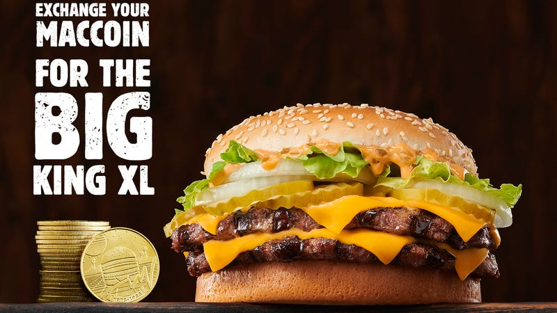 Illustration for article titled Burger King's Big King XL escalates company's beef with McDonald's