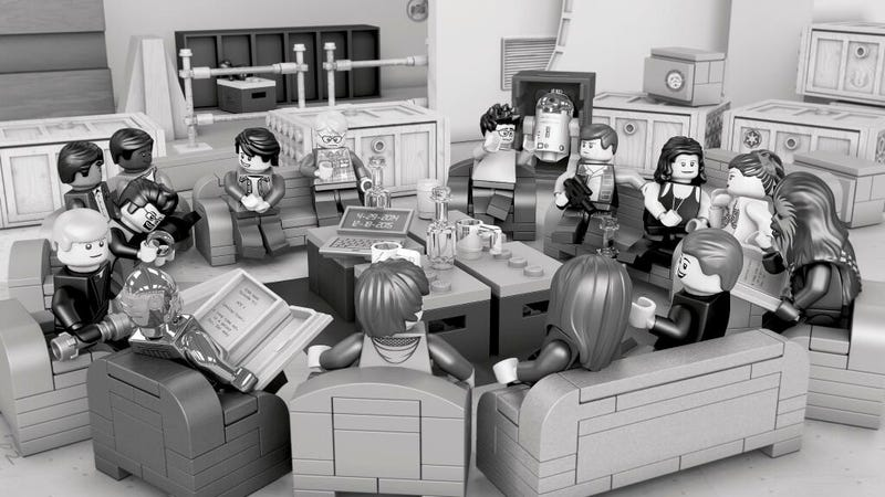 Illustration for article titled Somehow That Episode VII Table Read Photo Is Even Better In Lego Form