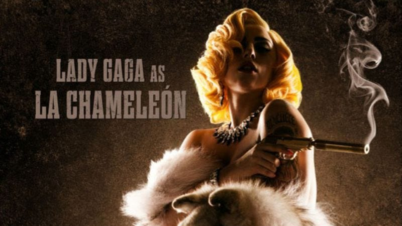 Illustration for article titled Lady Gaga will also star in, generate publicity for Machete Kills