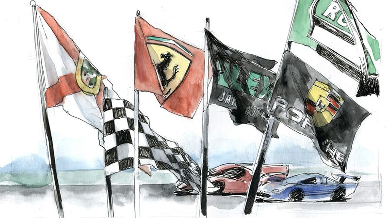 Illustration for article titled Daytona in watercolor is as rad as it gets
