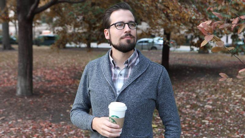 Mr. Autumn Man, enjoying a seasonal stroll.