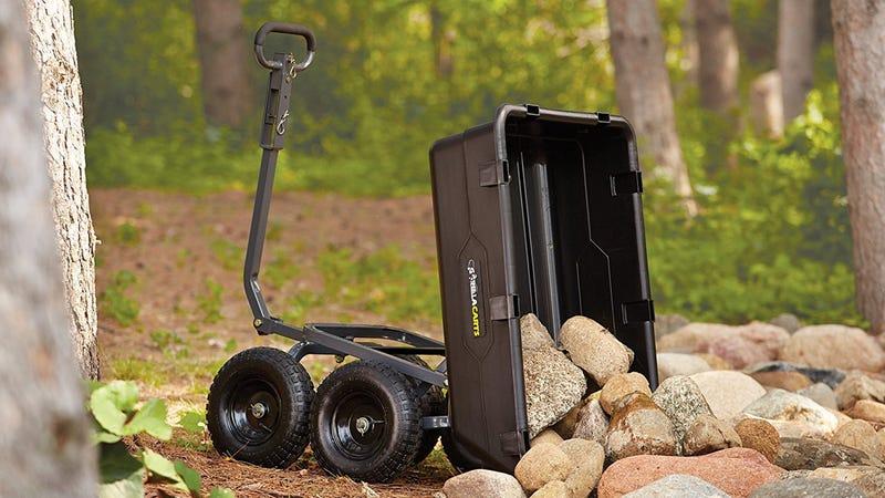 Gorilla Carts Heavy-Duty Poly Yard Dump Cart, $99