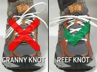 Illustration for article titled Ditch the Granny Knot to Tie Your Shoes More Efficiently
