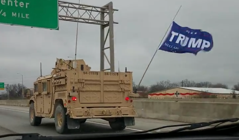 Navy: Special forces flew Trump flag in convoy