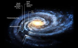 Illustration for article titled Scientists reveal the hidden structure and size of our galaxy