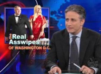 Illustration for article titled Jon Stewart Makes White House Crasher Story Less Sad, More Funny