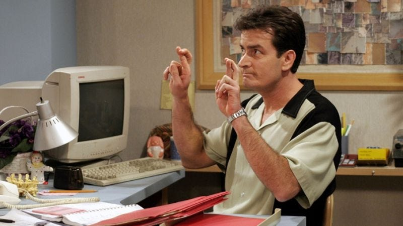 Illustration for article titled Charlie Sheen reportedly to stop pretending to be in rehab, return to pretending to work