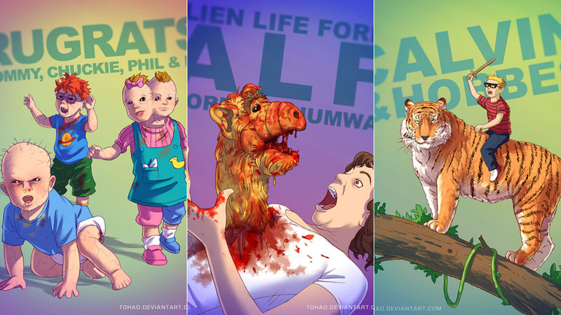 Illustration for article titled These Are Not The Cute Childhood Characters I Remember