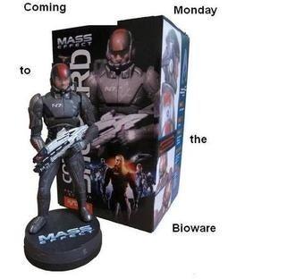 Illustration for article titled Bioware Tweets Reveal Figurine, Print Sale