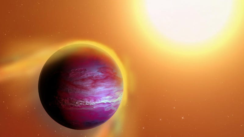 Artist's impression of the dying planet. (Image by A. Passwaters/Rice University)