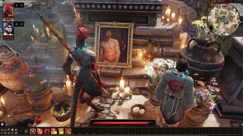 Illustration for article titled Divinity Original Sin 2 Player Collects Paintings Of Boss, Beats Him With Them